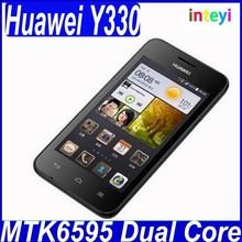 Original Huawei Y330 MTK6595 dual Core 4G CDMA Cell Phones 2MP 512G RAM 8G ROM 4.0HD Android 4.4 GPS Dual SIM Mobile Phone