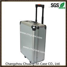 custom professional aluminum trolley case and large space aluminum trolley case