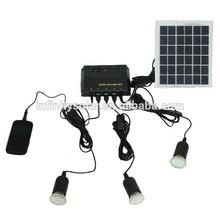 off grid Solar Lighting System 4W Solar Panel+1W LED portable lamp/lantern/mobile charger