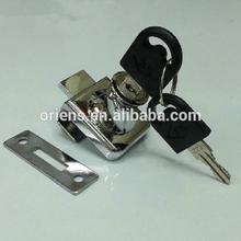 Glass lock accessories store counter display cupboard door lock parts