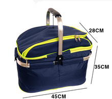 Multifunctional high-capacity picnic basket bag cooler Bag,with zipper closure