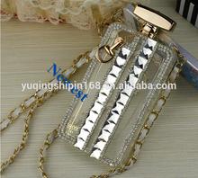 elegant rhinestone perfume bottle phone case cover for htc desire 620