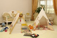 Cotton fabric child teepee tent ,indoor and outdoor child house with EN71 rohs certification