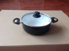 28cm press aluminum kitchen pot with non-stick coating inner