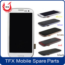 Wholesale for samsung gt i9300 lcd touch frame for samsung galaxy s3 i9300 lcd screen display