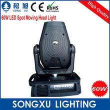60W LED Spot Moving Head Light Professional Stage Light DJ Light