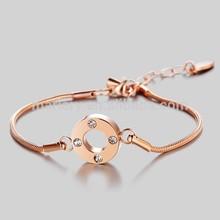 New Product Gold Charm Snake Chain Extra Long Bracelet for Women