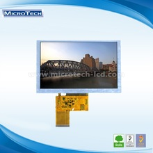 5.0 - inch TFT LCD screen 800*480 RGB lcd display 40 PIN active area 108*64.80mm