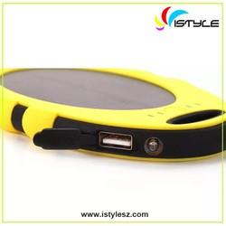 5000mah Dustproof shakeproof waterproof solar panel portable