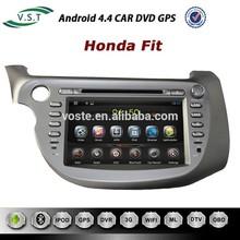 Mais novo Android 4.4 Rockchip A9 dual core sistema de áudio do carro car dvd rádio com gps de navegação para Honda Fit