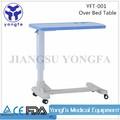 Conveniente yft-001 cama mesa para uso hospitalario hospital sobre la cama de la tabla