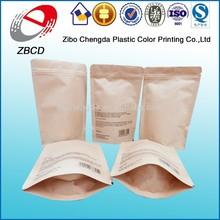 direct sale kraft paper zip lock bag for food