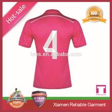 2015 fashionable Pink soccer jerseys OEM