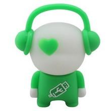 simple style usb cartoon character music boy usb flash memory stick