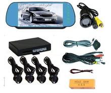 New arrival Car LED Parking Sensor Monitor Auto Reverse Backup Radar Detector System + Backlight Display + 4 Sensors Wholesale