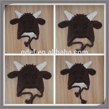 Pattern cow infant baby hat,kids great photo prop,crochet pattern hat calf beanie