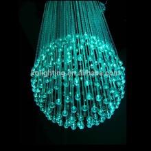 2015 venda quente brilhante cor mudar a decoração do casamento 150w fibra óptica forma de bola de lustre de cristal