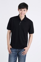 LEDENSWEISE black short sleeved polo shirt ,black polo t shirt 100% cotton China factory