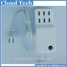 Factory price 6 Port Portable USB HUB 12A Desktop Charger AC Power Adapter EU Plug
