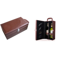 leather wine holder with accessories