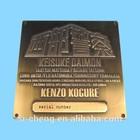 custom logo use antique metal brass plates supplier