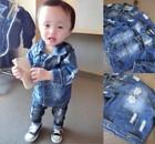 XYH baby distresses denim jacket