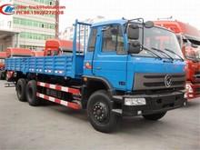 3axles 10T truck body cargo van body, 6*4 210HP Dongfeng truck
