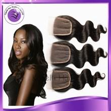 """New Arrival Free Part 3Bundles Brazilian Virgin Hair body wave top lace closure Brazilian Lace Closure 8""""-18"""" best quality"""