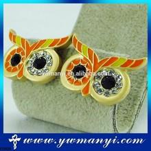 Bling and shining rhinestone heart shape fashion earring studs
