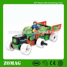 DIY Plastic Self-chambering Children Toy Tank