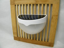 Ruocin white color light control solar security light lamp 6LED waterproof IP55 solar security light with CE&Rohs
