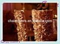 YHC # 81 silla con flores cubierta de poliéster banquete de boda al por mayor chiavari barato cubierta de la silla
