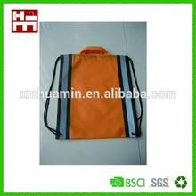 Drawstring bag with reflective printing