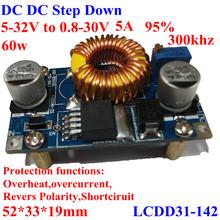 Dc/dc transformateur abaisseur voiture large gamme de tension réglable à 5-32v 0.8-32v 12v à 5v for vechile, moteur, etc