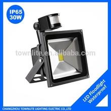 30w Daylight White Waterproof 2400lm PIR Motion Sensor LED FloodLight