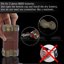 2015 Factory-direct mechanical box mod 18650 battery, variable wattage 100w wood box watts mechanical mod e cig
