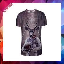 Logo personnalisé bodybuilding croître dans dark t - shirts avec 3d imprimé animal
