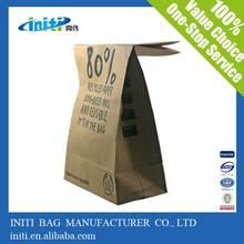 2015 newest hotsale oem kraft paper bag no handle