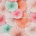 artificial decorativa casamento fã de papel flor