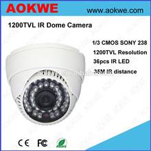 Aokwe cmos SONY 238 1200TVL analog indoor dome security cctv camera in dubai