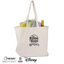 2015 Cheap100% Recycled Cotton Tote Bags/Custom Printed Canvas Tote Bags/Small Zipper Cotton Canvas Tote Bags