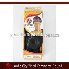 28pcs Set Femi Hair Extensions Free Closure and Stocking Shower Cap Sensationnel Femy brazilian virgin Janet Hair Weaving