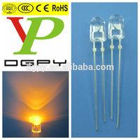 547 Oval Led Yellow color Led diode Manufacturer Dip led