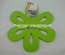 Flower shape logo printed green color nonwoven felt pan protectors