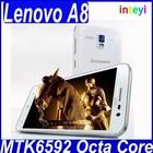 New Arrival Original Lenovo A8 4G LTE mobile Dual SIM wifi MTK6592 Octa Core 13.0MP 2GB RAM Android 4.4 in stock