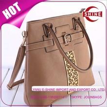 hot new products for 2015 PU handbag Gold laser design Lady bag