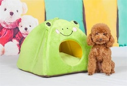 Dog Indoor Houses Luxury Cartoon Frog Pet Beds House For Puppy Dog
