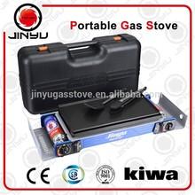 CE&CSA approval 2 burners butane potable gas stove BDZ-2X168+GP-20