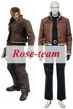 Fantasia Anime Lolita-Top Quality Resident Evil 4 Leon S. Kennedy Game Cosplay Costumes Cartoon Costume C0180