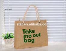 Jute Shopping Tote Bag Euro Style